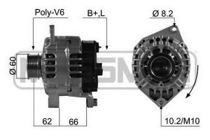 Alternator CITROEN Jumper, FIAT Ducato, PEUGEOT Boxer